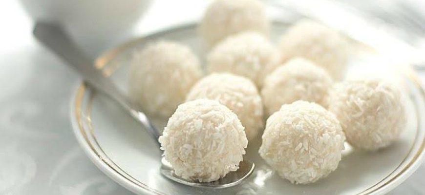 Кокосові цукерки «Сніжки» - рецепт
