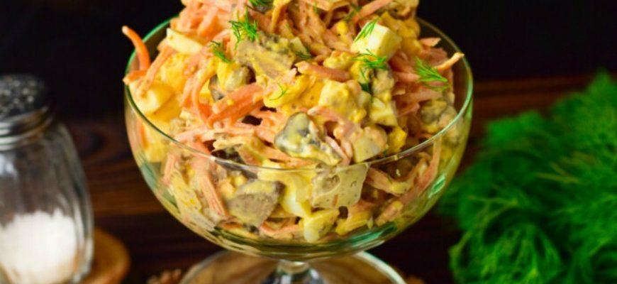 Салат з печінкою і морквою по-корейськи - рецепт