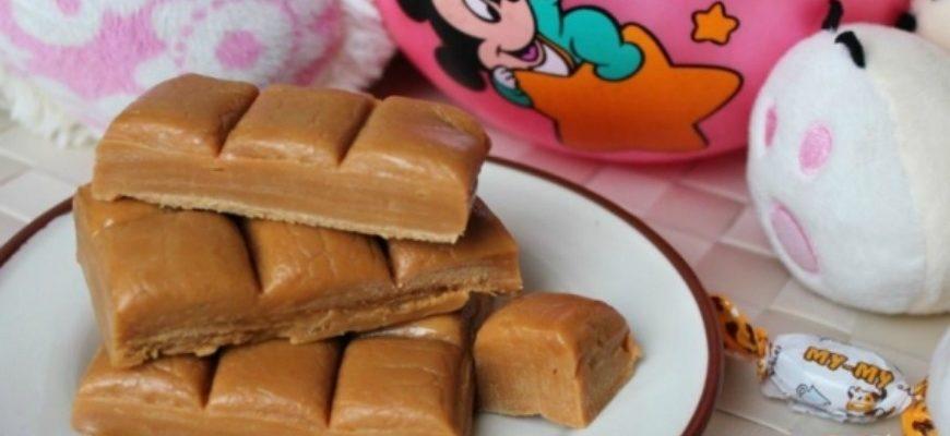 Іриски, домашні молочні цукерки
