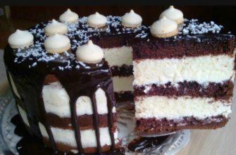 Кокосовий торт «Баунті» - рецепт