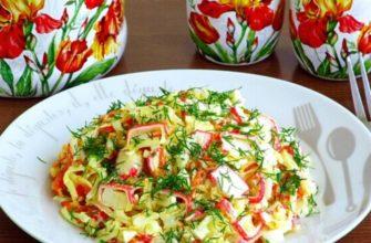Крабовий салат з морквою і сиром - рецепт