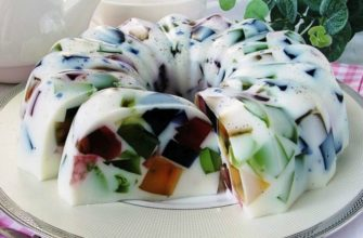 Торт Бите скло на сметанному желе - рецепт