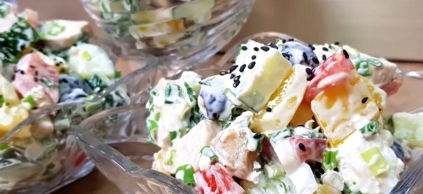 Дуже смачний салат «Білосніжка» - рецепт