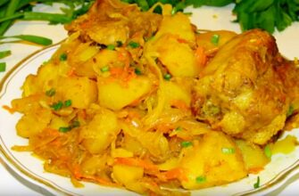 М'ясо з квашеною капустою і картоплею, рецепт приготування