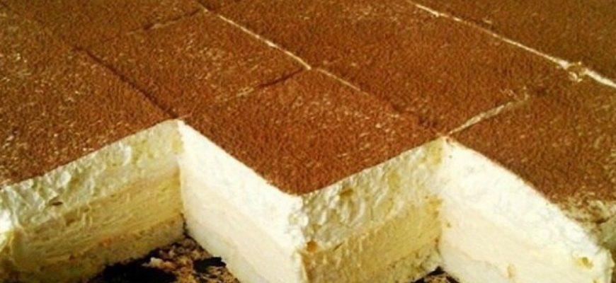 Ніжне тістечко з пудингом - рецепт