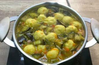 Овочевий суп з сирними фрикадельками, рецепт приготування