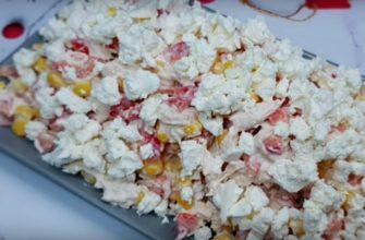 Простий салат «Сніжинка» - рецепт