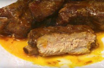 Свинячі ребра, рецепт приготування