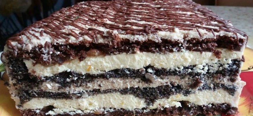 Торт «Зебра», рецепт приготування