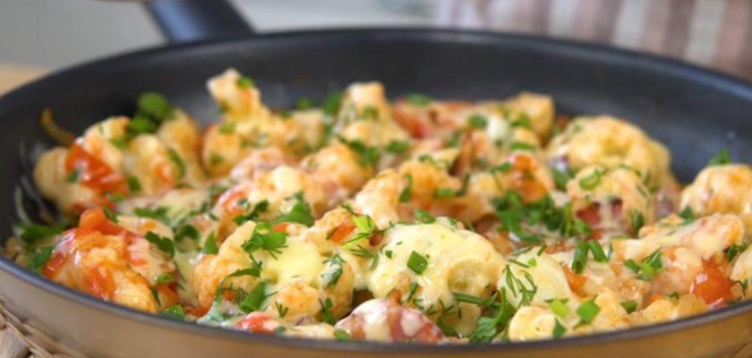 Цвітна капуста з беконом, рецепт приготування
