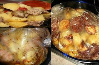 Картопля з м'ясом запечена в рукаві, рецепт приготування