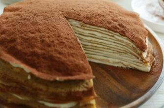 Млинцевий торт «Тірамісу», рецепт приготування