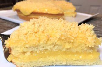Пісний торт з кремом - рецепт приготування