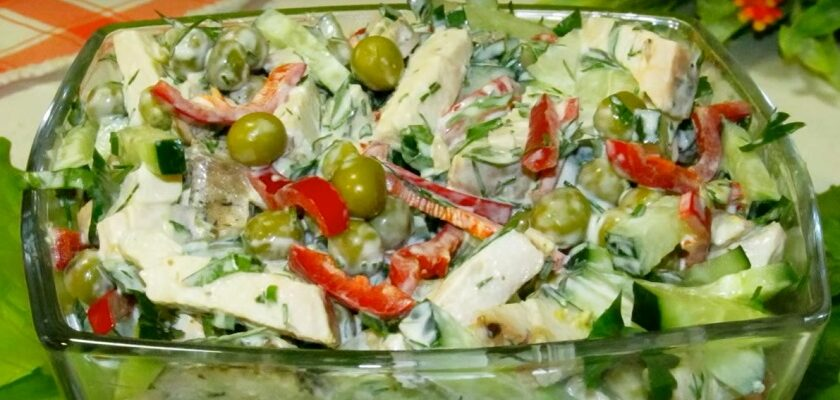 Салат з курячим філе на кожен день, рецепт приготування