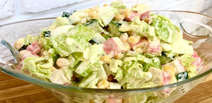 Салат з пекінською капустою, детальний рецепт