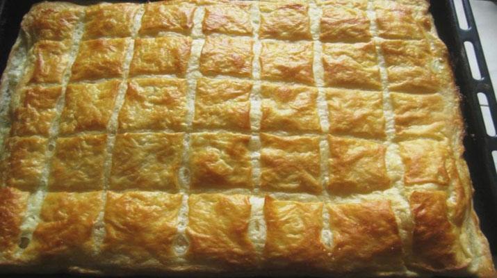 Швидкий листковий пиріг, рецепт приготування