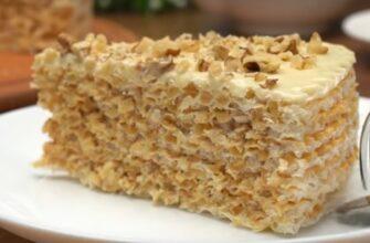 Вафельний торт, рецепт приготування