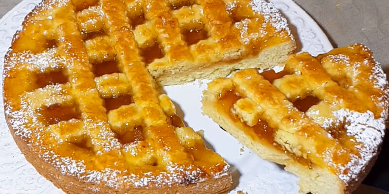 Пісочний пиріг з варенням - рецепт приготування
