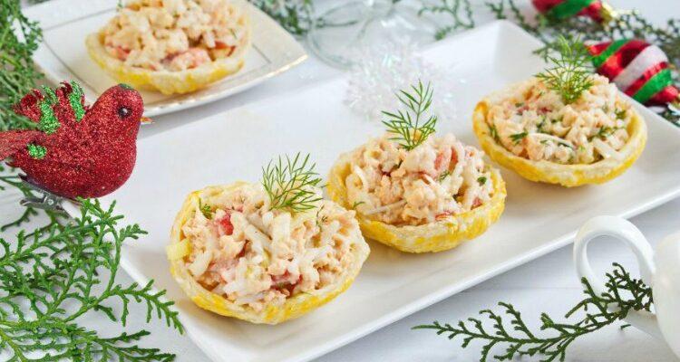 Рибний салат в тарілочках - відмінний рецепт