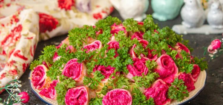 Салат Букет троянд - відмінний рецепт