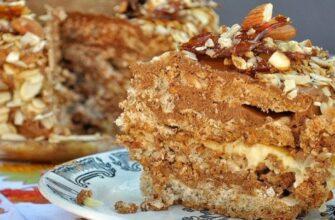Смачний горіховий торт - рецепт приготування