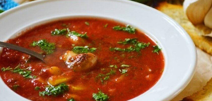 Томатний суп з грибами - рецепт приготування