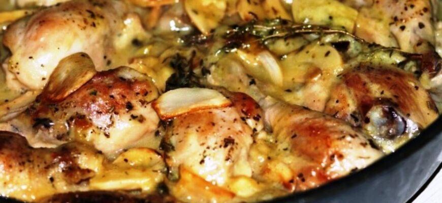 Картопля з куркою - рецепт приготування