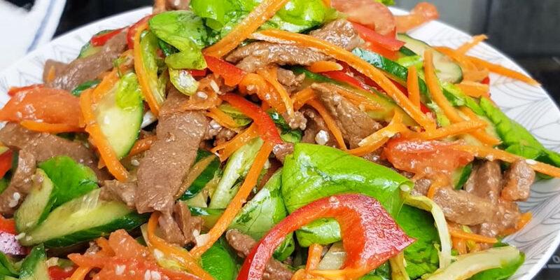 М'ясний салат по-корейськи - рецепт приготування