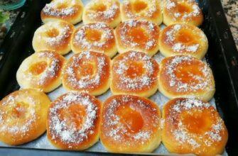 Пончики з варенням - рецепт приготування