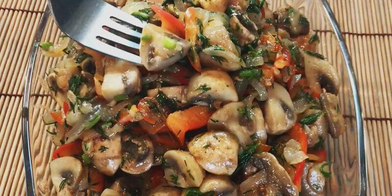 Салат з шампіньйонів по-корейськи - рецепт приготування