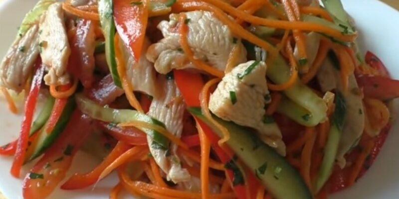 Апетитний салат з м'ясом - рецепт приготування