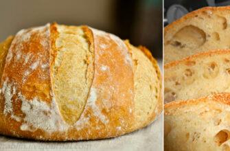 Домашній хліб без замісу - рецепт приготування