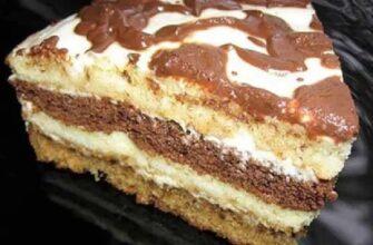 Домашній сметанний торт - рецепт приготування