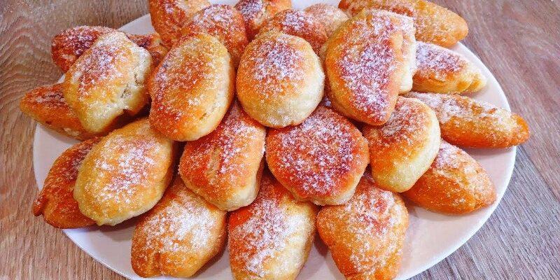 Пампушки з цукровою пудрою - рецепт приготування
