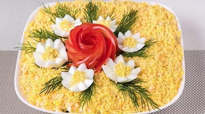 Салат «Квіткова фантазія» - рецепт приготування
