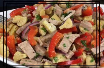 Салат по-селянськи - рецепт приготування