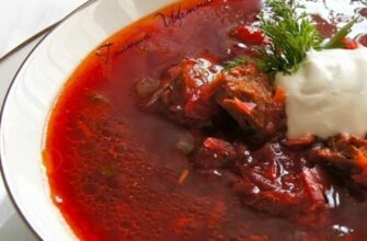 Смачний борщ з телятиною - рецепт приготування