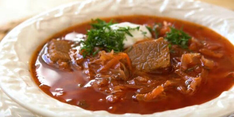 Смачний домашній борщ - рецепт приготування