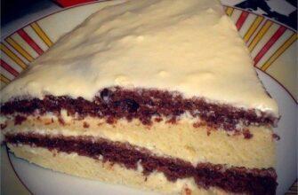 Смачний торт на кефірі, відмінний рецепт