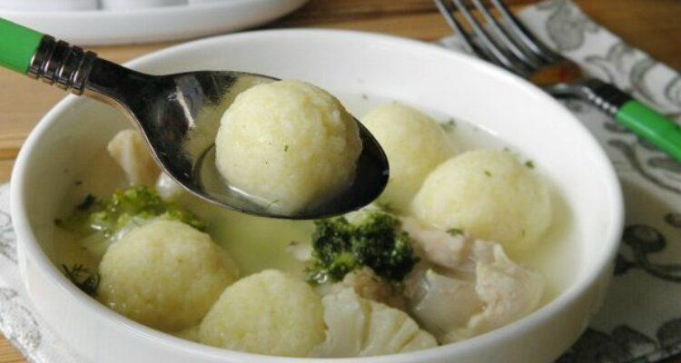 Суп з картопляними кульками - рецепт приготування