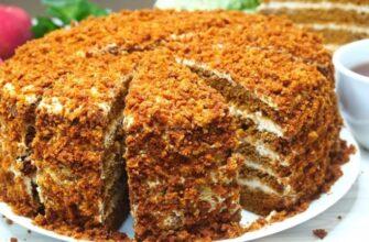 Торт «Медовий пух» без розкочування коржів, рецепт приготування