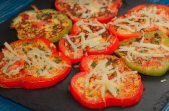 Омлет-піца в перці - рецепт приготування