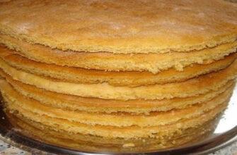 Приготування коржів для тортів - рецепт приготування