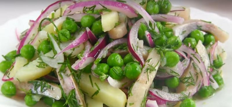 Салат з оселедцем - рецепт приготування