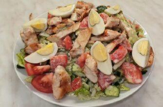 Салат з пекінської капусти і куркою - рецепт приготування