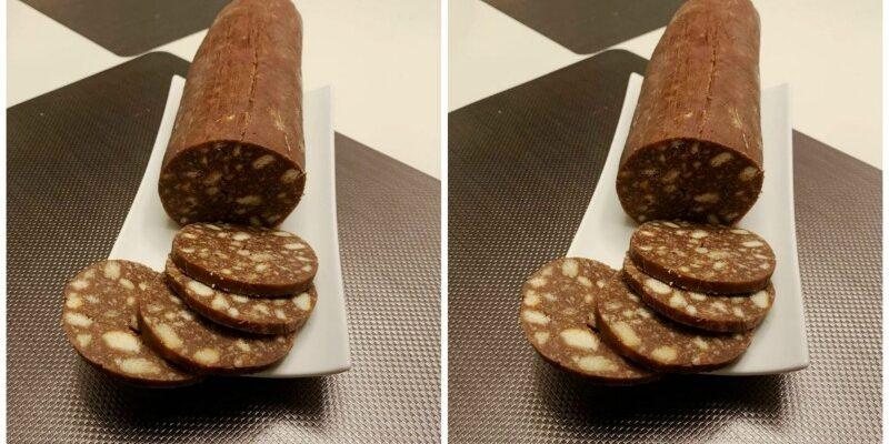 Шоколадна солодка ковбаса - рецепт приготування