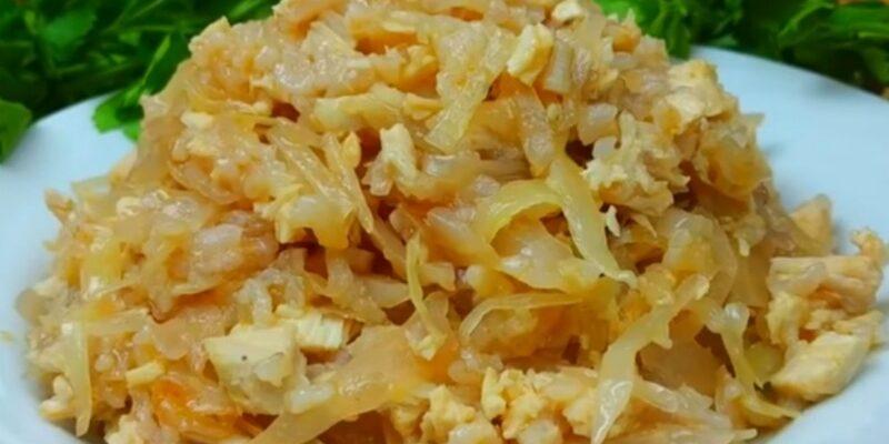 Страва з капусти і рису - рецепт приготування