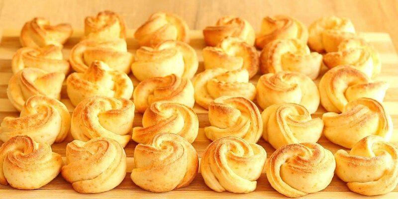 Сирне печиво квіточки - рецепт приготування