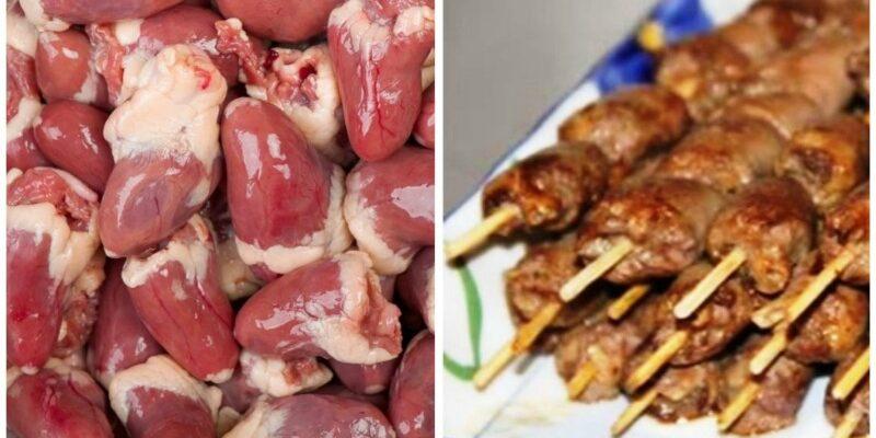 Шашлик з курячих сердець - рецепт приготування