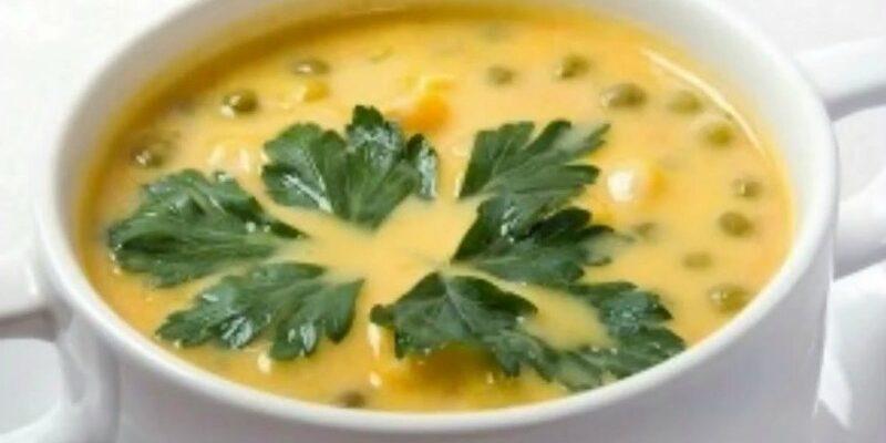 Сирний суп з горошком - рецепт